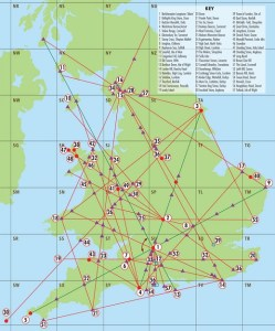 Map of supposed 'Neolithic alignments'