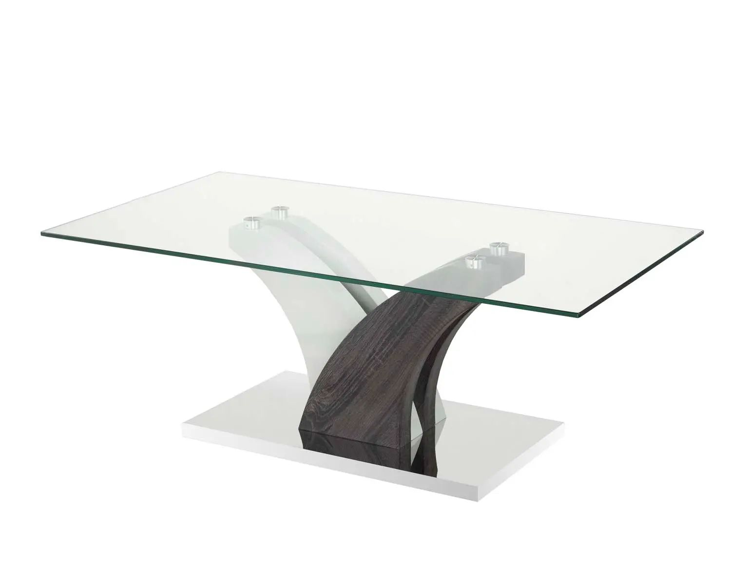brassex jerome large glass coffee table in grey b 793