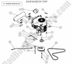Bad Boy Parts Lookup 2013 CZT Engine (Kawasaki FS730V)