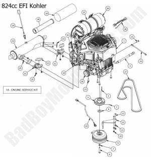 2015 Outlaw & Outlaw Extreme  Engine (Kohler 824cc EFI