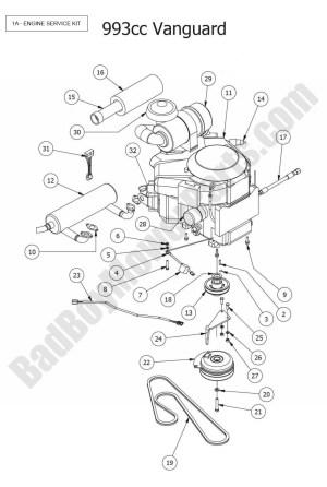 2015 Outlaw XP  Engine (Vanguard 993cc) Diagram