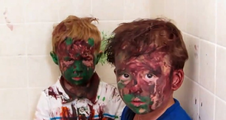 kids and paint