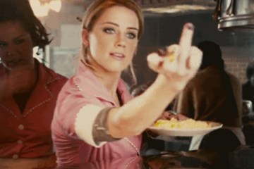Waitress hates