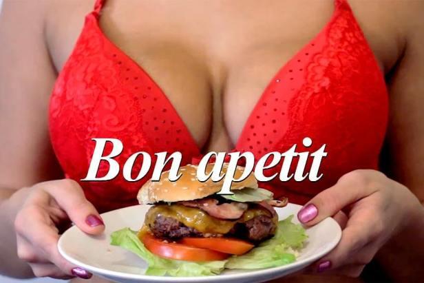 Hamburger with Wine