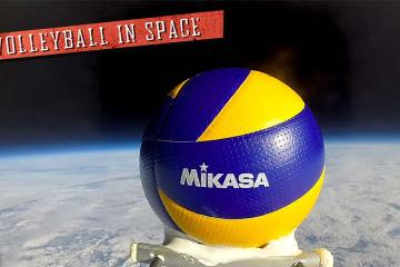 The First Volleyball in Space
