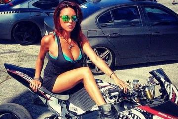 cute and sexy. Girls and Bikes.