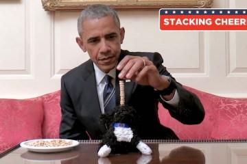 President obama stacking oreos