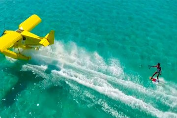 Wakeboard Towed by a Plane