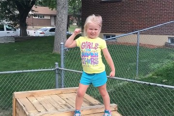 Daddy builds DIY 'American Ninja Warrior' course for daughter