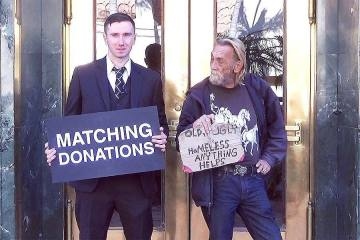 Whatever does it again! Matching Donations for the Homeless
