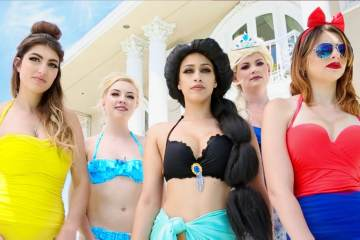 What if Disney Princesses go to a Pool Party