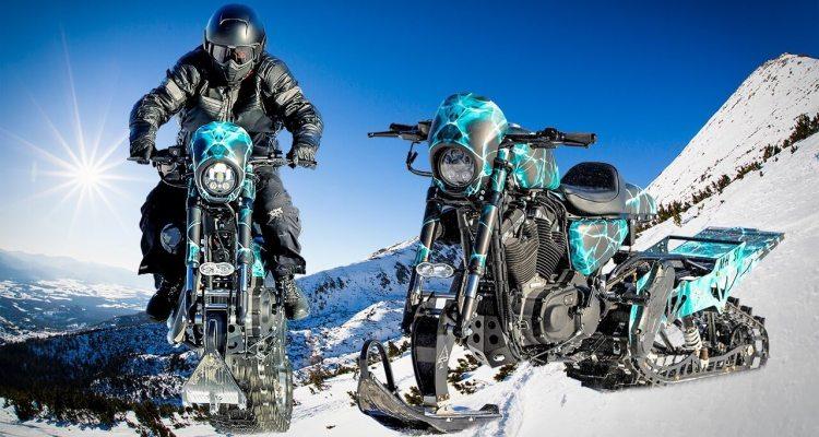 Crazy Harley-Davidson Snowbike Jump