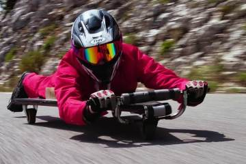 Homemade Racer with NO BRAKES!