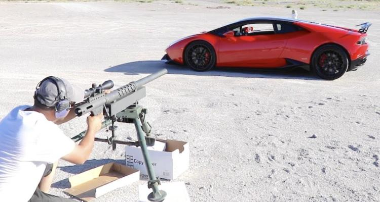 20mm caliber through a lamborghini huracan badchix magazine. Black Bedroom Furniture Sets. Home Design Ideas