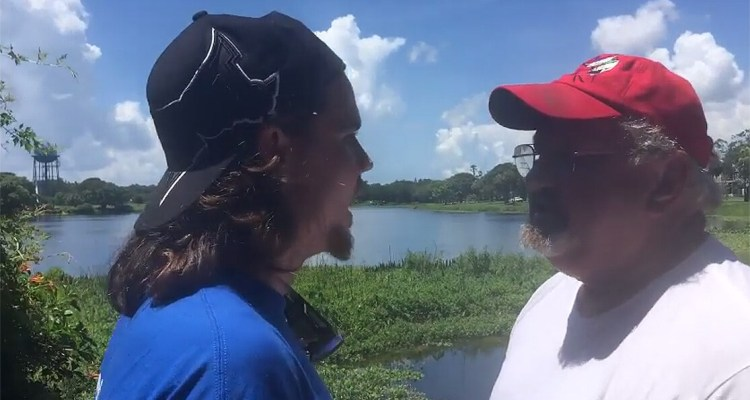 confrontation between people fishing and animal activists in St. Pete. In response, we received this video from the activists, who identify themselves as That Vegan Activist Family