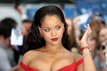 Rihanna - Attending the 'Valerian' premiere in London in a beautiful red dress