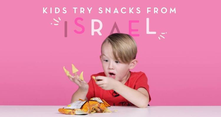 Kids Try Snacks from Israel