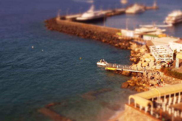Capri Island Time-Lapse in Tilt Shift Aerial 1