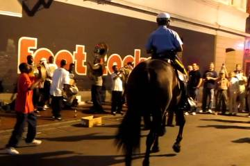 Dancing Police Horse in New Orleans 1