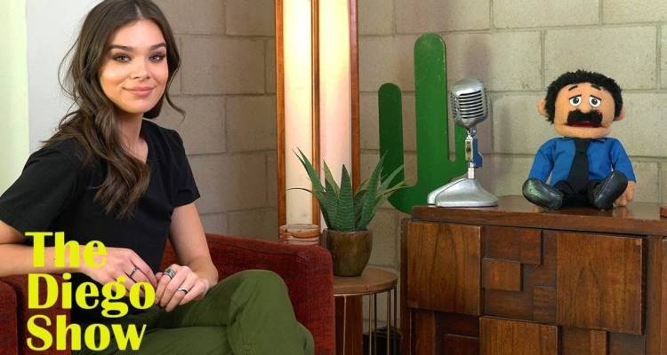 Hailee Steinfeld Gets Interviewed by Awkward Puppet Diego 1