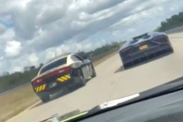 Florida Highway Patrol Trooper racing Lamborghini 1