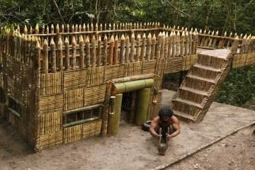 Building The Most Beautiful Survival House Villa By Bushman Skills 1