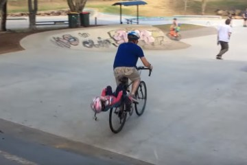 Father Fails When Riding Down Ramps 1