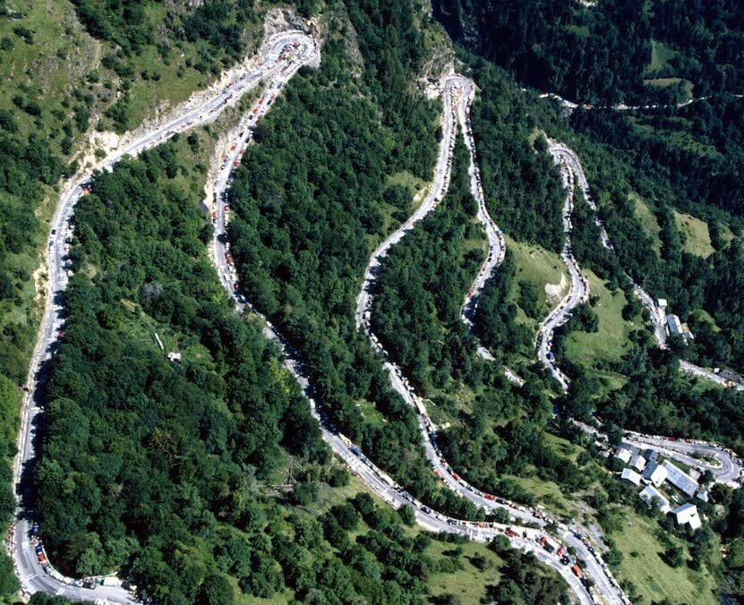 Driving The Famous 21 Bends of L'Alpe D'Huez 1