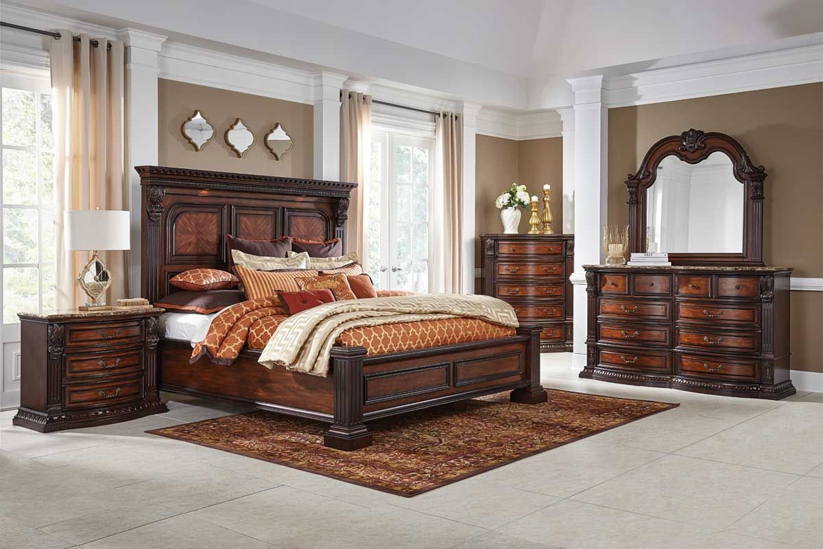 GRAND ESTATE 5 Pc KING Bedroom Group Badcock Ampmore