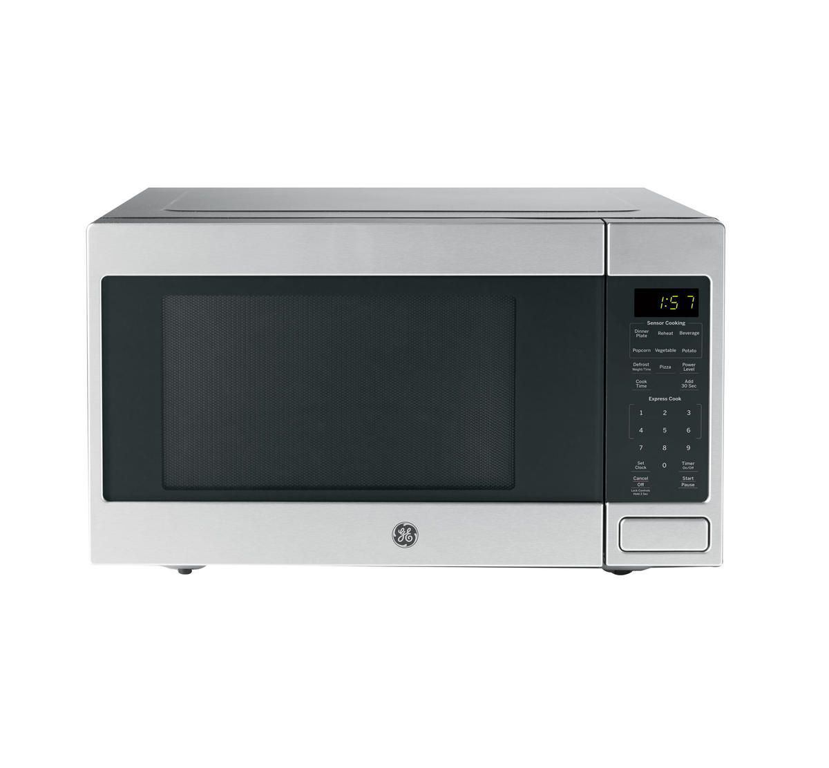 g e counter top microwave