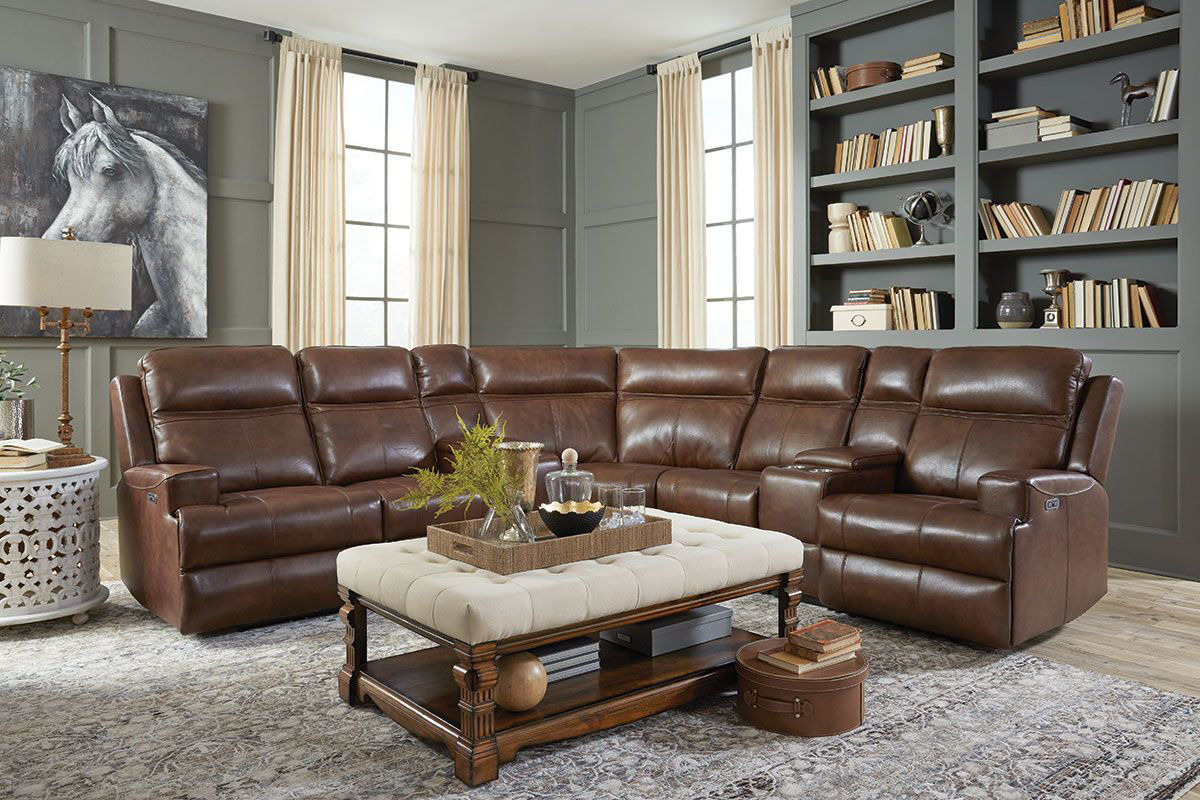browning 6 piece sectional