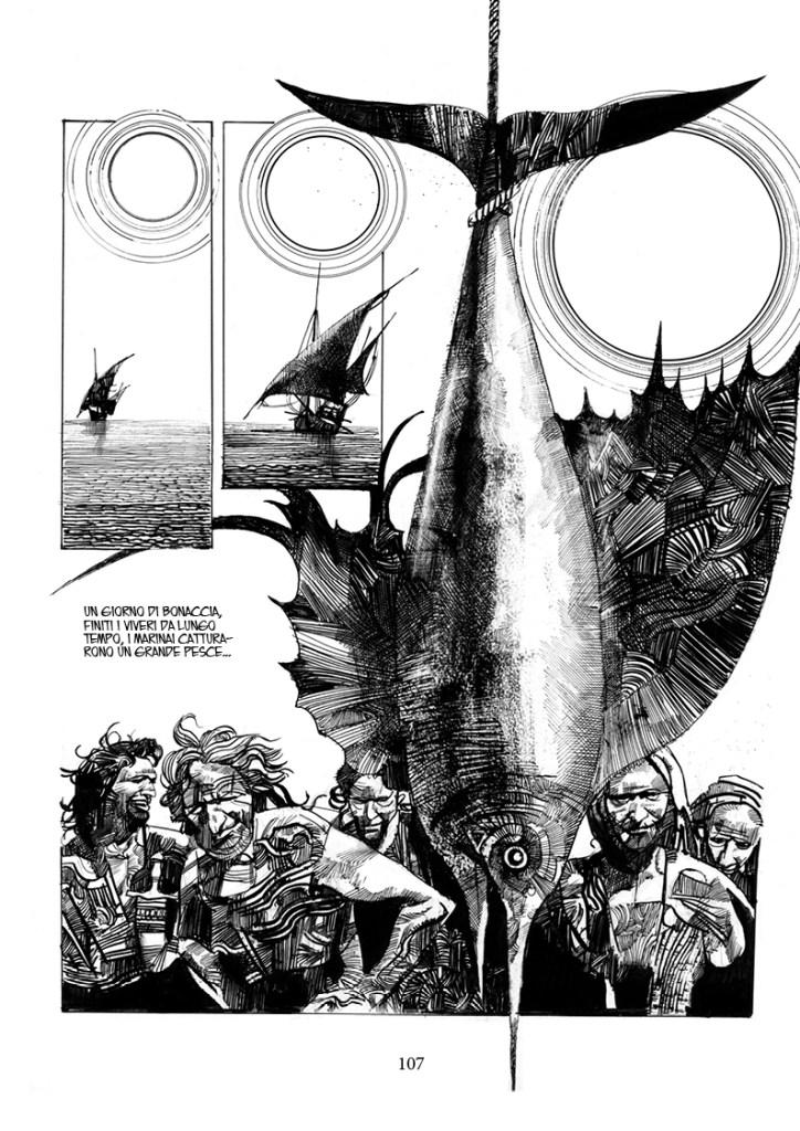 Sharaz-de: Le Mille e una Notte, pag. 107, disegni di Sergio Toppi