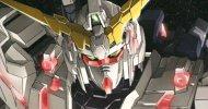 Una statua a grandezza naturale di Mobile Suit Gundam Unicorn
