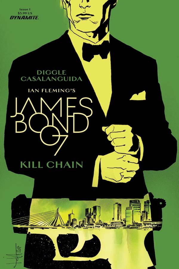 James Bond 007: Kill Chain #1, copertina C di Luca Casalanguida