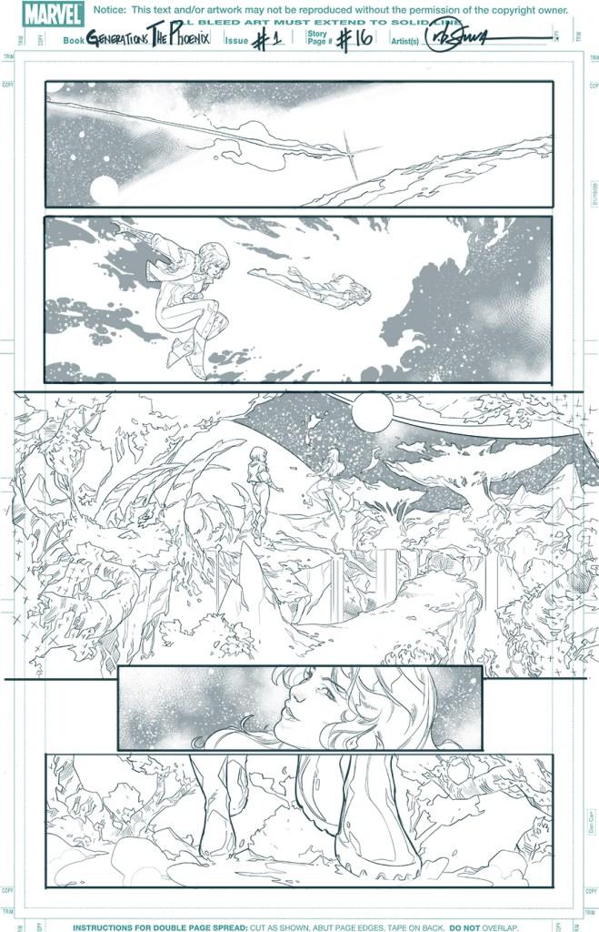 Generations: Phoenix & Jean Grey, anteprima 12 (matite)