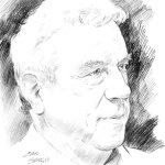 Claudio Villa omaggia Sergio Bonelli con un ritratto