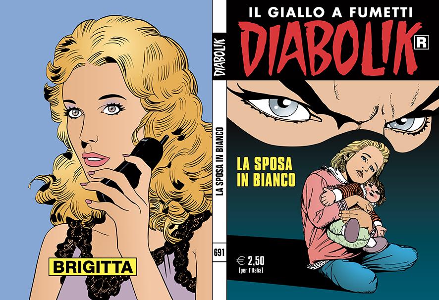 Diabolik R 691 – 10 gennaio, copertina di Enzo Facciolo e Paolo Zaniboni