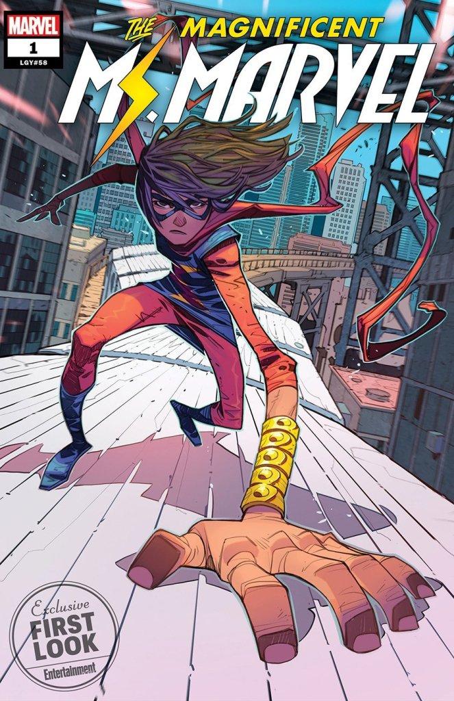 Magnificent Ms. Marvel #1, copertina di Minkyu Jung