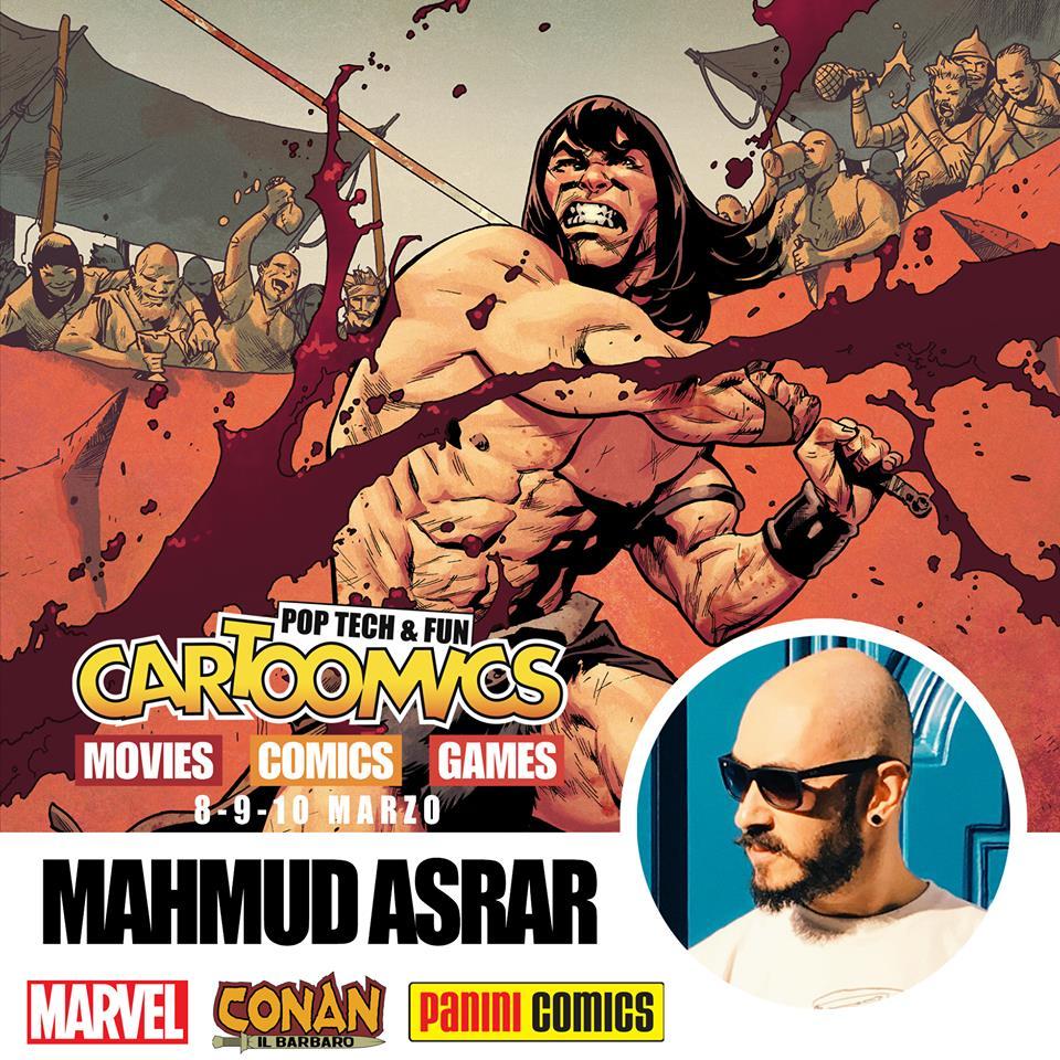 Mahmud Asrar a Cartoomics 2019