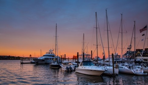Boston Harbour Sunset
