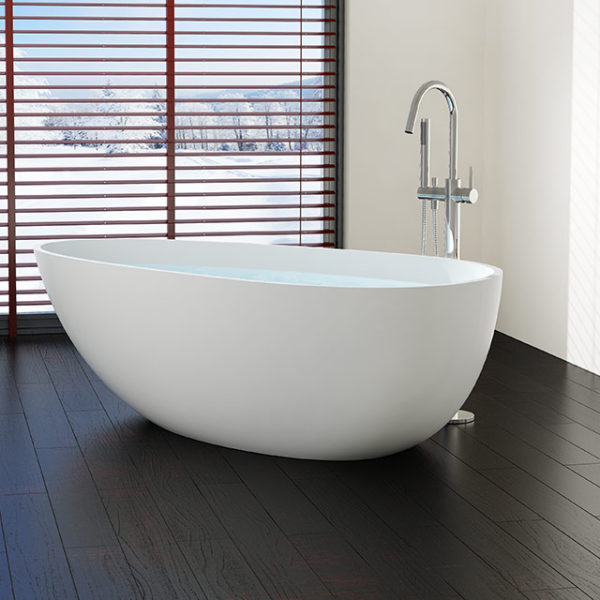 Large Freestanding Bathtub Model BW 01 XL Badeloft USA