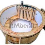 Badestamp i plast polypropylen med 2 LED of luftboble massasjesystem TimberIN