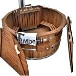 Holzbadezuber mit innen oder aussenofen aus holzthermo