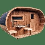 Ovale-Aussensauna-mit-Holzofen-und-Vorraum-1-150x150 Fasssauna - Gartensauna - Saunafass - Außensauna mit Vorraum, Holzofen für draußen