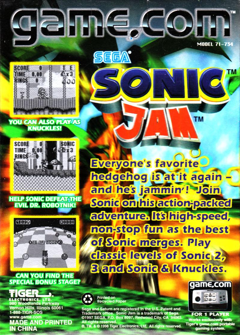 Sonic Jam (Game com) | Bad Game Hall of Fame