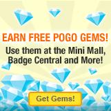 Free Gems -- a legitimate Pogo offer!