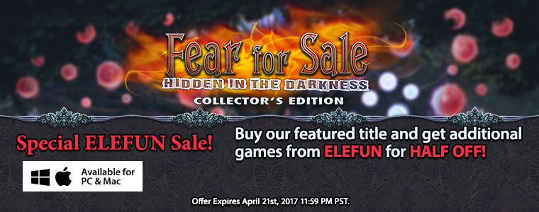 Special EleFun Sale: Fear for Sale: Hidden in the Darkness Collector's Edition