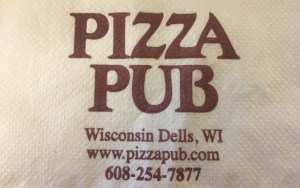 Napkin with Pizza Pub Logo