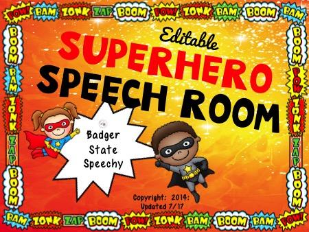Bing Bang Boom, Welcome to the Superhero Speech Room!