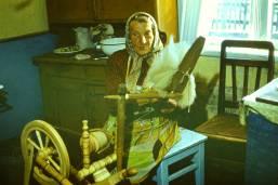 Mrs._Skindzierz-_Jakubowska_at_the_Spinning_Wheel_1976